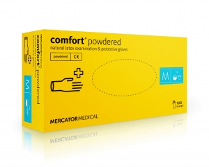 Rękawice latex COMFORT powdered S 100szt